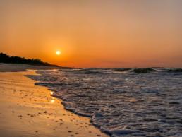 zachód słońca golden hour Jurata Hel